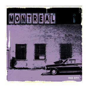 Montreal Vice City in Purple by Pascal Normand