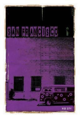 San Francisco, Vice City in Purple by Pascal Normand