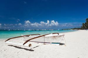 Boat on Tropical Beach by pashapixel