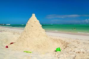 Sand Construction on Caribbean Beach by pashapixel