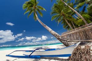 Tropical Beach View by pashapixel