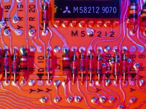 Close-up of Printed Circuit Board by PASIEKA