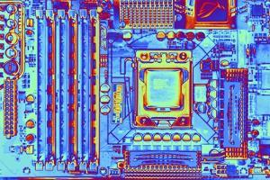 Computer Motherboard with Core I7 CPU by PASIEKA