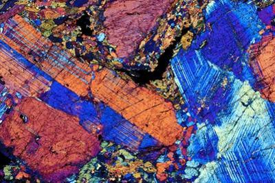 Granite, Thin Section, Polarised LM