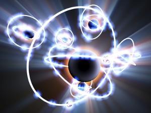 Lithium Atoms, Computer Artwork by PASIEKA