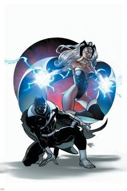 A+X #3 Cover: Black Panther, Storm by Pasqual Ferry
