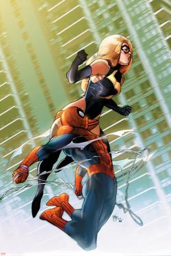 Ms. Marvel No.47 Cover: Ms. Marvel and Spider-Man by Pasqual Ferry