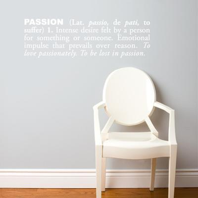 Passion (english) Wall Decal