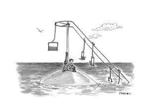 Climate change ski lift. - Cartoon by Pat Byrnes