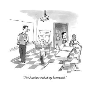 """""""The Russians hacked my homework."""" - Cartoon by Pat Byrnes"""