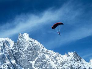 Para-Skier, Mt. Blanc, Italy, France by Pat Canova