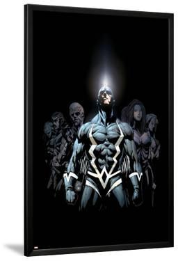 Inhumans 2099 No.1 Cover: Black Bolt and Inhumans Flying by Pat Lee