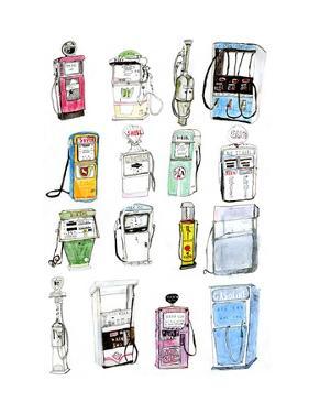 Petrol Pumps by Pat Macdonald