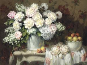Peonies and Peaches by Pat Moran