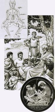 Hippocrates with His Students by Pat Nicolle