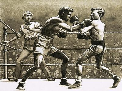 Jimmy Wilde Boxing Pancho Villa in New York