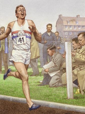 Roger Bannister Running the First Four-Minute Mile