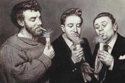 The Goons: Spike Milligan, Peter Sellers, Harry Secombe by Pat Nicolle