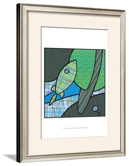Patchwork Planets III-Charles Swinford-Framed Art Print