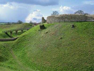 Castle at Castle Acre, Norfolk, England, United Kingdom, Europe