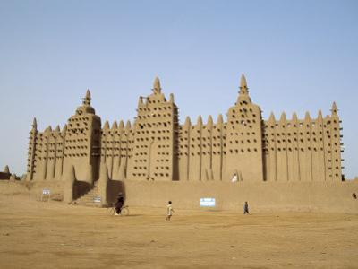 Great Mosque, the Largest Dried Earth Building in the World, Djenne, Mali