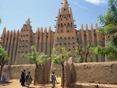 Mosque in Old Town, Mopti, Mali, Africa