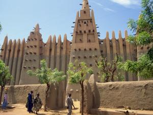 Mosque in Old Town, Mopti, Mali, Africa by Pate Jenny