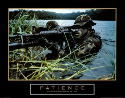 Patience, Soldier