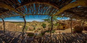 Patio at the Twyfelfontein Country Lodge, Namibia, Africa