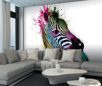 Patrice Murciano Zebra Wall Mural by Patrice Murciano