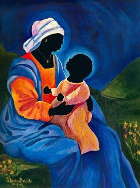 Madonna and child picking flowers by Patricia Brintle