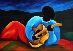 Ti-Jean le guitariste, 2008 by Patricia Brintle