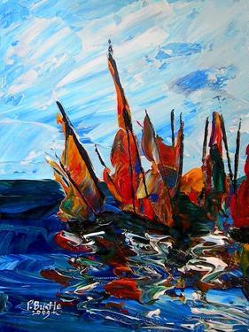 Voiliers au port a bainet, 2009 by Patricia Brintle