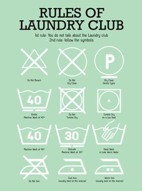 Laundry Club Green by Patricia Pino