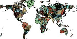 World Map by Patricia Pino
