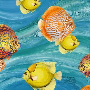 Aquatic Sea Life I by Patricia Pinto