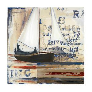 Blue Sailing Race I by Patricia Pinto
