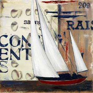 Blue Sailing Race II by Patricia Pinto