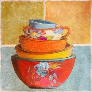 Collage Bowls I by Patricia Pinto