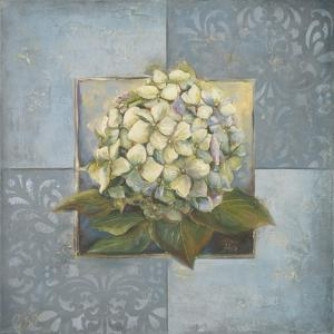 Hydrangeas on Blue I by Patricia Pinto