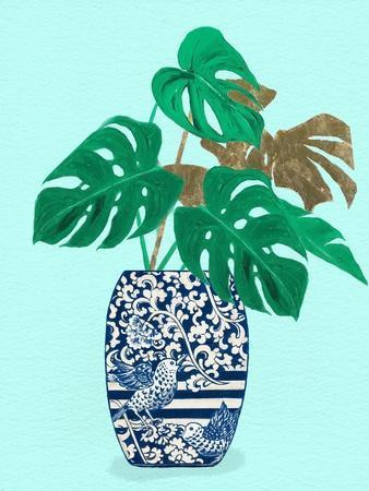 Jungle Leaves In Decorative Vase