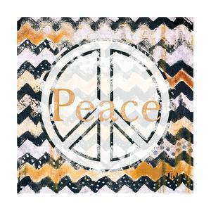 Love and Peace Square II by Patricia Pinto