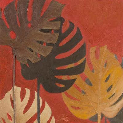 My Fashion Leaves on Red II by Patricia Pinto