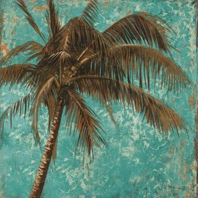 Palm on Turquoise I by Patricia Pinto