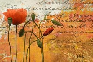 Poppies Composition I by Patricia Pinto