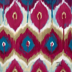 Red Tropical Ikat II by Patricia Pinto