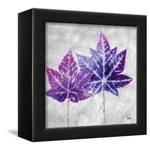 The Purple Leaves on Silver II by Patricia Pinto