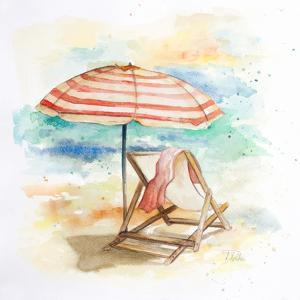 Umbrella on the Beach II by Patricia Pinto