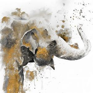 Water Elephant with Gold by Patricia Pinto