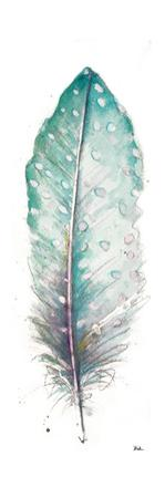 Watercolor Feather White I by Patricia Pinto